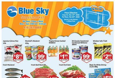Blue Sky Supermarket (North York) Flyer February 14 to 20