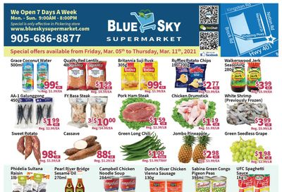 Blue Sky Supermarket (Pickering) Flyer March 5 to 11