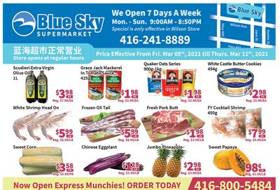 Blue Sky Supermarket (North York) Flyer March 5 to 11