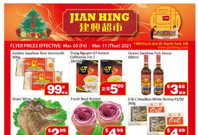 Jian Hing Supermarket (North York) Flyer March 5 to 11