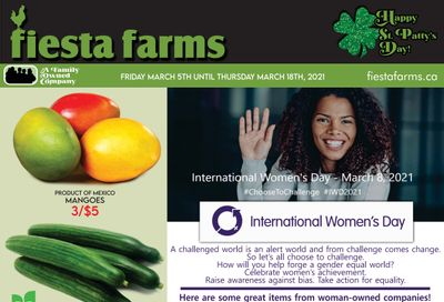 Fiesta Farms Flyer March 5 to 11