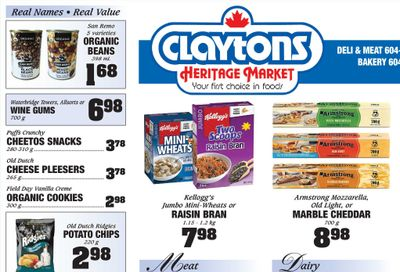 Claytons Heritage Market Flyer March 5 to 11