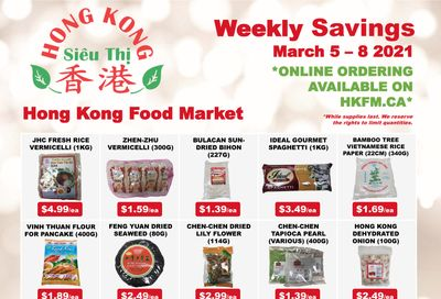 Hong Kong Food Market Flyer March 5 to 8