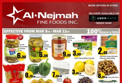 Alnejmah Fine Foods Inc. Flyer March 5 to 11