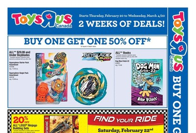 Toys R Us Flyer February 20 to March 4