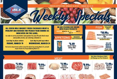 7 Mile Market Pesach Passover Special Weekly Ad Flyer March 7 to March 12, 2021