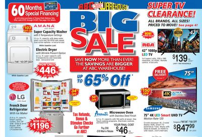 ABC Warehouse Weekly Ad Flyer March 7 to March 13, 2021