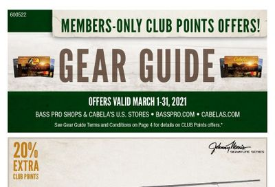 Cabela's Weekly Ad Flyer March 1 to March 31