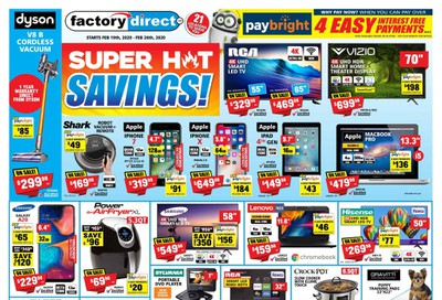 Factory Direct Flyer February 19 to 26