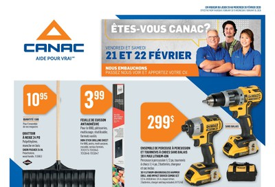 Canac Flyer February 20 to 26