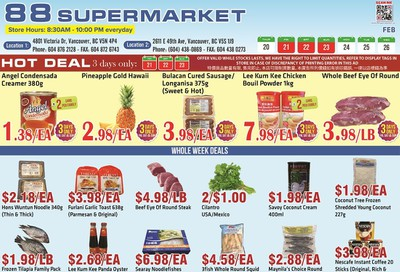 88 Supermarket Flyer February 20 to 26