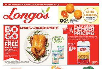 Longo's Flyer March 11 to 24