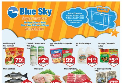Blue Sky Supermarket (North York) Flyer February 21 to 27