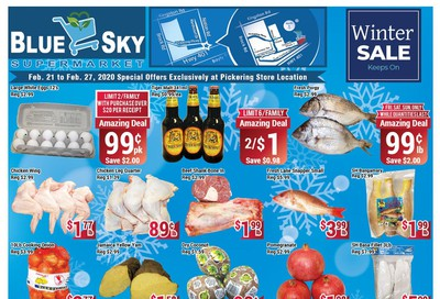 Blue Sky Supermarket (Pickering) Flyer February 21 to 27