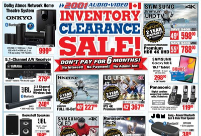 2001 Audio Video Flyer February 21 to 27