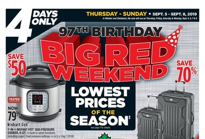 Canadian Tire 97th Birthday Big Red Weekend Flyer September 5 to 8