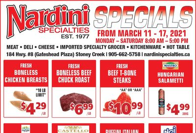 Nardini Specialties Flyer March 11 to 17