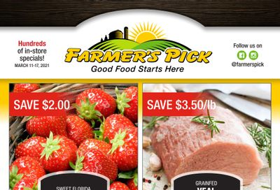 Farmer's Pick Flyer March 11 to 17