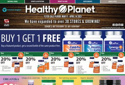 Healthy Planet Flyer March 11 to April 14