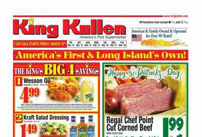 King Kullen Weekly Ad Flyer March 12 to March 18