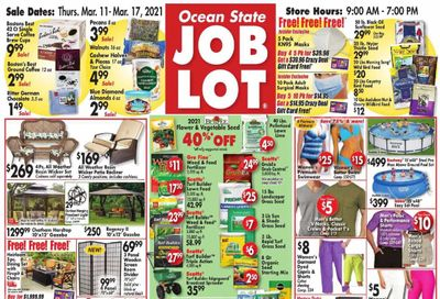 Ocean State Job Lot Weekly Ad Flyer March 11 to March 17