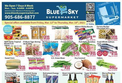 Blue Sky Supermarket (Pickering) Flyer March 12 to 18