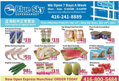 Blue Sky Supermarket (North York) Flyer March 12 to 18