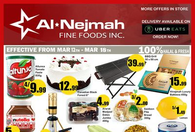 Alnejmah Fine Foods Inc. Flyer March 12 to 18
