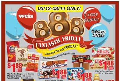 Weis Weekly Ad Flyer March 12 to March 14