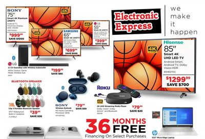 Electronic Express Weekly Ad Flyer March 14 to March 20
