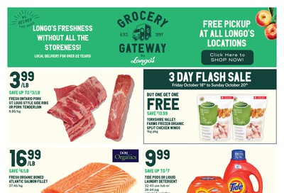 Longo's Grocery Gateway Flyer October 16 to 22