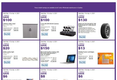 Costco (QC) Weekly Savings March 15 to April 4