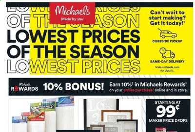 Michaels Weekly Ad Flyer March 14 to March 20