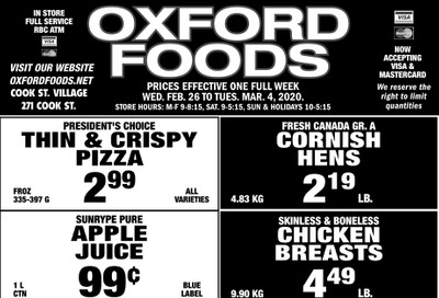 Oxford Foods Flyer February 26 to March 3