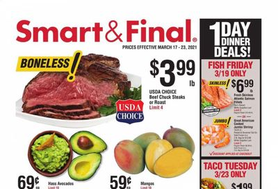 Smart & Final (AZ, CA, NV) Weekly Ad Flyer March 17 to March 23
