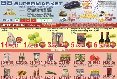 88 Supermarket Flyer February 27 to March 4