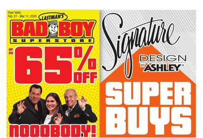 Lastman's Bad Boy Superstore Flyer February 27 to March 11