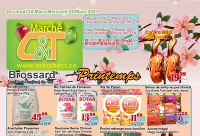 Marche C&T (Brossard) Flyer March 18 to 24