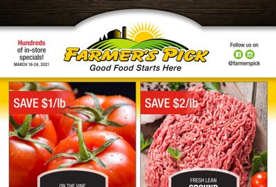 Farmer's Pick Flyer March 18 to 24