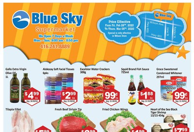 Blue Sky Supermarket (North York) Flyer February 28 to March 5
