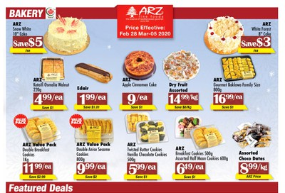 Arz Fine Foods Flyer February 28 to March 5