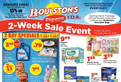 Roulston's Pharmacy Flyer February 28 to March 12
