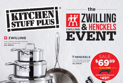 Kitchen Stuff Plus Henckels Event Flyer March 18 to April 5