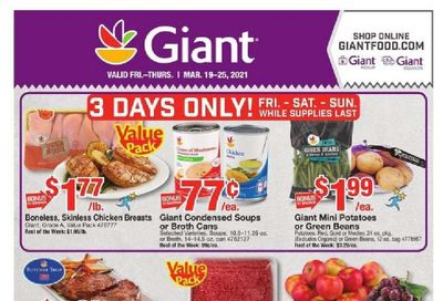 Giant Food Weekly Ad Flyer March 19 to March 25