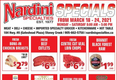 Nardini Specialties Flyer March 18 to 24