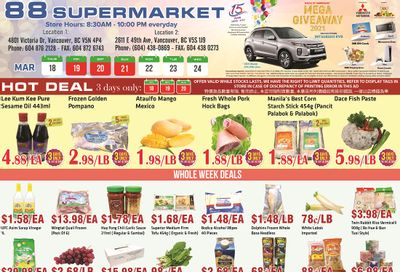 88 Supermarket Flyer March 18 to 24