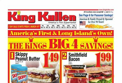 King Kullen Weekly Ad Flyer March 19 to March 25