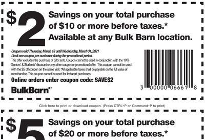 Bulk Barn Canada Coupon: Valid until March 31