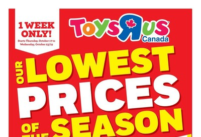 Toys R Us Flyer October 17 to 23