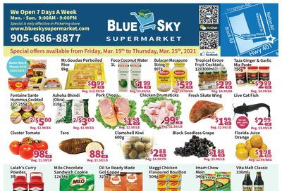 Blue Sky Supermarket (Pickering) Flyer March 19 to 25
